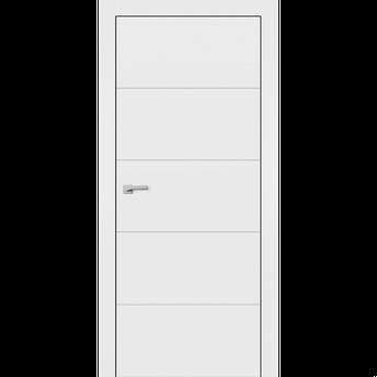 Крашенные двери модель F-3. Полотно+коробка+1к-т наличников, срощенный брус сосны, фото 2