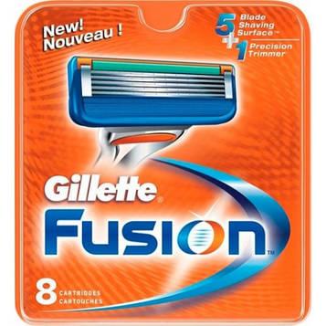 Gillette Fusion 8 шт ОРИГИНАЛ Кассеты-лезвия для бритья в упаковке