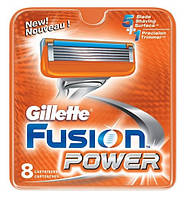 Сменные лезвия для станка джилет (Gillette) Fusion Power упаковка 8 шт