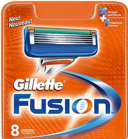 Сменные картриджи для бритья Gillette Fusion 8 шт