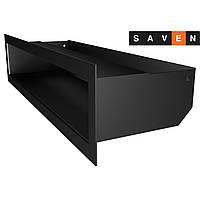 Вентиляційна решітка для каміна SAVEN Loft 90х400 чорна, фото 1
