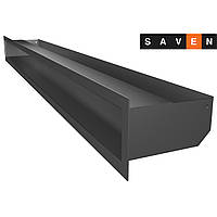 Вентиляційна решітка для каміна SAVEN Loft 90х1000 графітова, фото 1