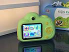 Дитячий фотоапарат, Kids Camera c дисплеєм, дитяча фотокамера, Зелена, фото 6