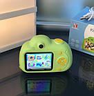 Дитячий фотоапарат, Kids Camera c дисплеєм, дитяча фотокамера, Зелена, фото 2