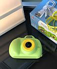 Дитячий фотоапарат, Kids Camera c дисплеєм, дитяча фотокамера, Зелена, фото 9