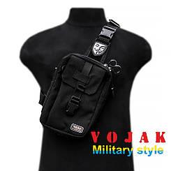 """Тактическая городская сумка """"VENDETTA"""" (BLACK)"""