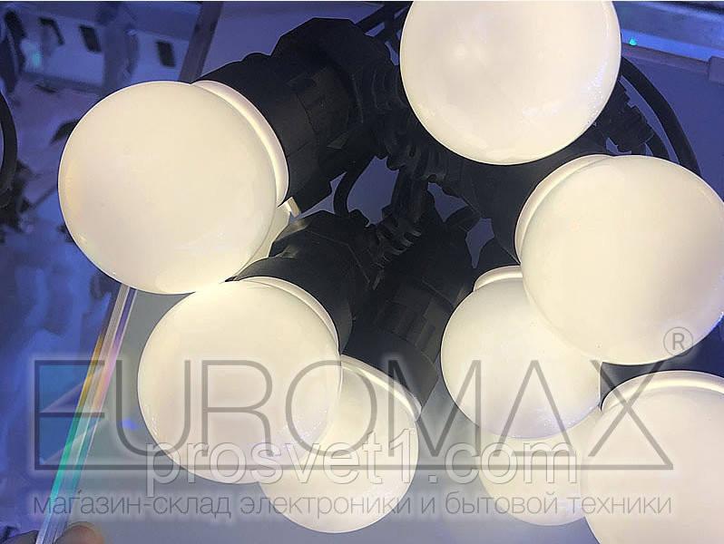 Гирлянда уличная 10 LED 5м бел.лампа (тепл. бел.)