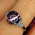 Серебряное родированное кольцо Бесконечность к00444, фото 7