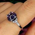 Серебряное родированное кольцо Бесконечность к00444, фото 5