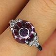 Серебряное родированное кольцо Бесконечность к00444, фото 4