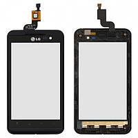 Touchscreen (сенсорный экран) для LG Optimus 3D P920, с передней панелью, оригинал