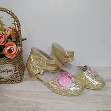 Туфли на  девочку 28,29,30,31,32 р  арт 07-9-2 золото GFB.