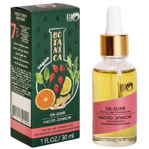 Масло-еліксир для жирної та комбінованої шкіри обличчя Bio World Botanica від запалення і акне 30 мл