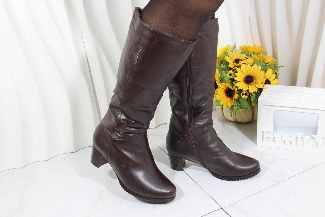 Коричневі жіночі чоботи Battine M1470