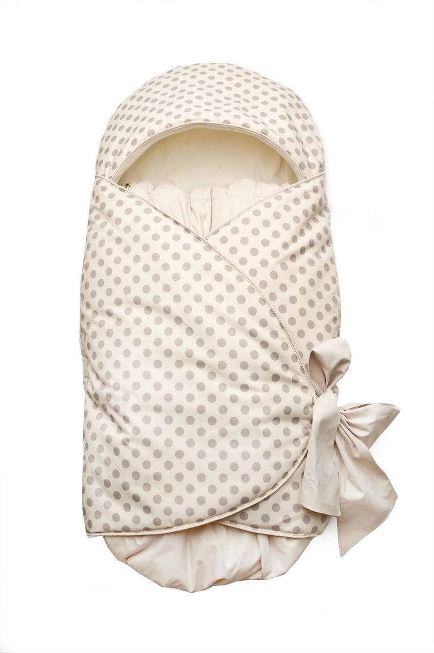 Утепленный конверт на выписку для новорожденных, подходит для автокресла (от рождения до 3 месяцев)
