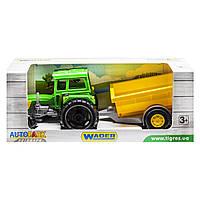 Трактор Фермер з причепом в коробці , Wader вид1 39348