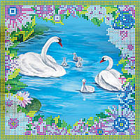 """Схема для вышивания бисером на художественном холсте """"Лебеди"""""""