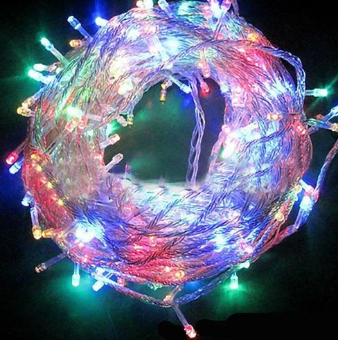 Светодиодная внутренняя гирлянда прозрачный шнур Xmas Led 300 B-1 21 метр мультиколор R190355