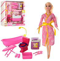 МЕБЕЛЬ LH031-2 ванная комната, кукла 29 см, аксессуары, в коробке, 36-329 cм.
