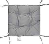 """Мягкая подушка на стул (серый) 40х40х5 """"COLOR"""" тм DOTINEM"""