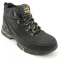 Мужские зимние ботинки черного цвета, кроссовки из натуральной КОЖИ