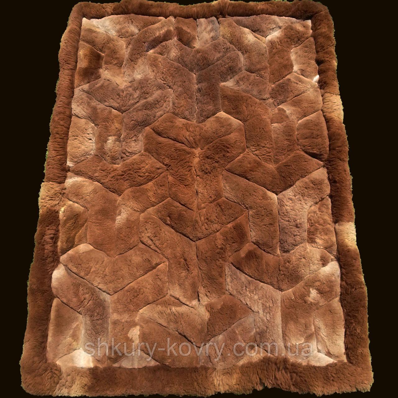 Ковер из натурального мягкого коричневого меха Альпаки купить в Одессе