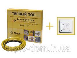 Нагревательный кабель In-Therm 1850w (92 метра) + механический регулятор
