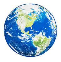 🔝 Круглый 3D коврик в ванную планета земля (Америка) 120см - прикроватный коврик для спальни ребенка   🎁%🚚