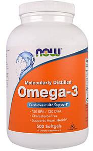Омега-3 жирные кислоты Now Foods Omega-3 500 капс.