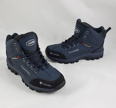 Ботинки Colamb!a ЗИМА - МЕХ Мужские Коламбиа Синие (размеры: 41) Видео Обзор, фото 3
