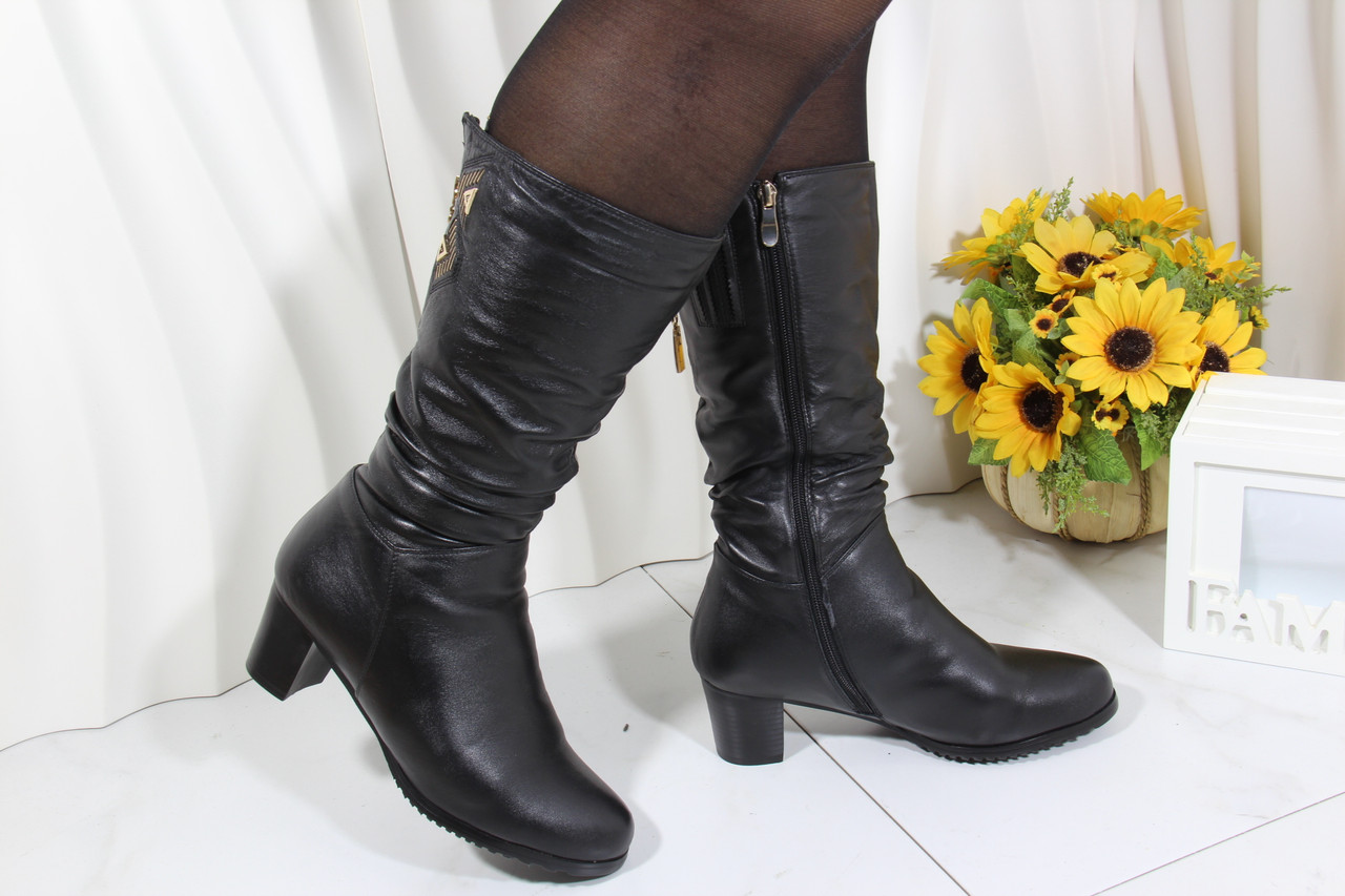 Зимові чоботи Battine на підборах M1207