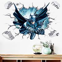 3D интерьерные виниловые наклейки на стены Бетмен 90-60 см в детскую . Декор, Обои Марвел Мстители