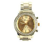 Наручные часы Geneva золото, камушки вокруг циферблата