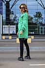 Женский зимний теплый свитшот оверсайз трехнитка черный белый зелёный красный желтый универсальный, фото 10
