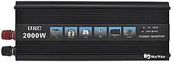 Преобразователь напряжения(инвертор) 12-220V UKC 2000W Black + USB (6852)