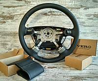 Оплетка на руль Дэу Ланос (Daewoo Lanos)  4-х спицевый руль из натуральной кожи Vero