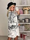 Женское платье мраморный велюр серое S-М M-Л, фото 2