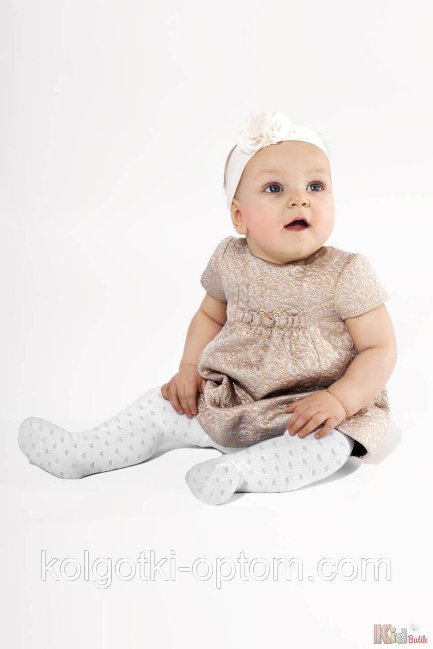 ОПТОМ Колготки для девочки Lenka, белые (68-74 / 6-12 мес.)  Knittex 5906906000890