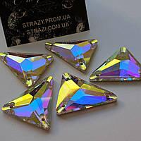 Стразы пришивные SWARO Треугольник New 18*21мм. Crystal AB