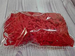 Бумажный наполнитель для коробки, цвет красный