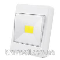 Подсветка универсальная в виде выключателя KL1701/305-COB, магнит, липучка, 4хAAA