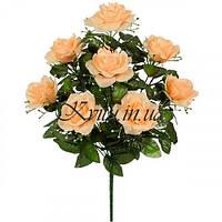 Букет роза с кашкой каскадный,  54см