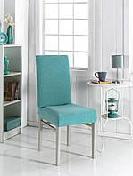 Безразмерный чехол для стула универсальный бирюзовый