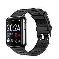 Розумні годинник Lemfo V5 з вимірюванням тиску і пульсоксиметром (Чорний)