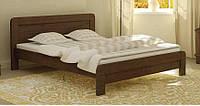 Кровать деревянная Тоскана 140х200 Mebigrand сосна орех темный