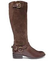 Женские демисезонные коричневые сапоги из натуральной кожи/замши  американского бренда Ralph Lauren оригинал