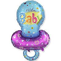 Фольгированный шар фигурный Соска для мальчика