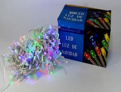 Светодиодная гирлянда Нить цветная 100 Led белый провод 8 м