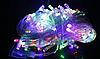 Светодиодная гирлянда Нить цветная 100 Led белый провод 8 м, фото 3