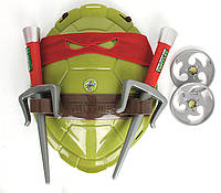 Боевой набор Рафаэля Черепашки Ниндзя - маска, панцирь, 2 сюрикена, кинжалы Саи - 207689